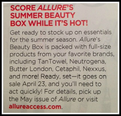 Allure Beauty Box 2013