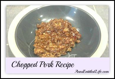 Chopped Pork Recipe