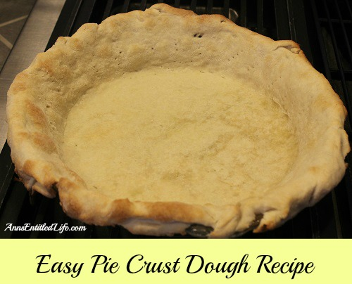 Easy Pie Crust Dough Recipe