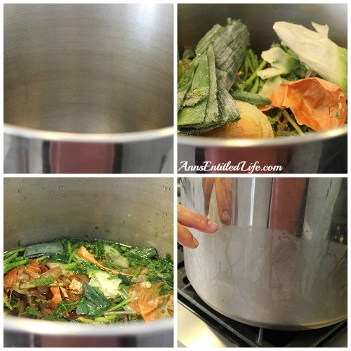 how to cook vegetable stock with frozen scraps