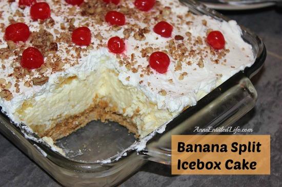 No Bake Banana Split Cake With Pudding