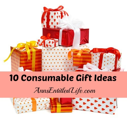 10 Consumable Gift Ideas