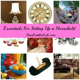 Essentials For Setting Up a Household