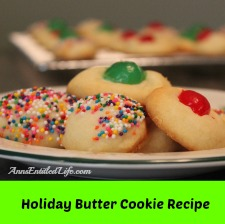 Holiday Butter Cookie Recipe