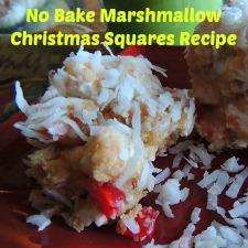 No Bake Marshmallow Christmas Squares Recipe