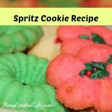 Spritz Cookie Recipe