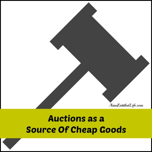 Auctions as a Source Of Cheap Goods