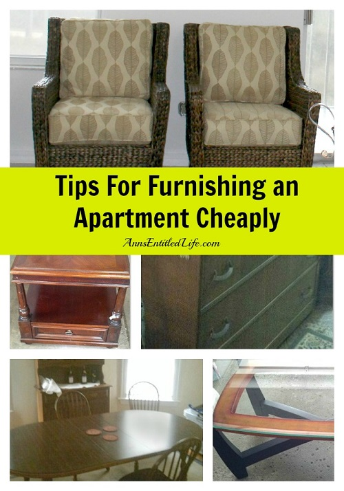 Tips For Furnishing an Apartment Cheaply