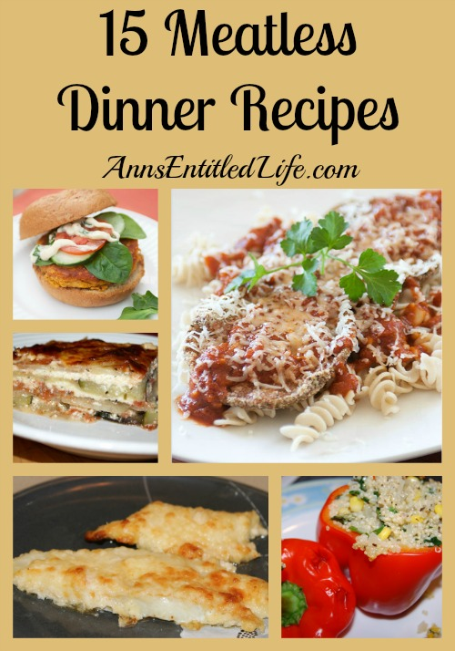 ... dinner dishes? Here are 15 Meatless Dinner Recipes for your culinary