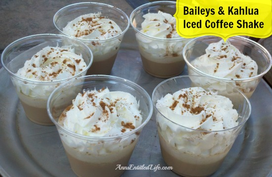 Baileys & Kahlua Iced Coffee Shake Recipe. A rich, decadent, delicious, cool cocktail beverage, this Baileys & Kahlua Iced Coffee Shake is simply amazing. Whether served at a summer party, enjoyed on the weekend, or just a special treat for you, this Baileys & Kahlua Iced Coffee Shake will be a big hit!