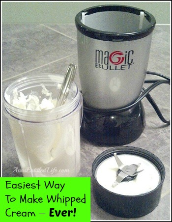 Would you like to know the easiest way to make whipped cream? Hubby discovered it a while ago. This is the Easiest Way To Make Whipped Cream - Ever!