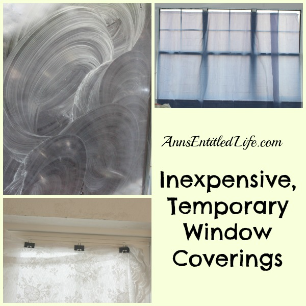 Inexpensive Temporary Window Coverings