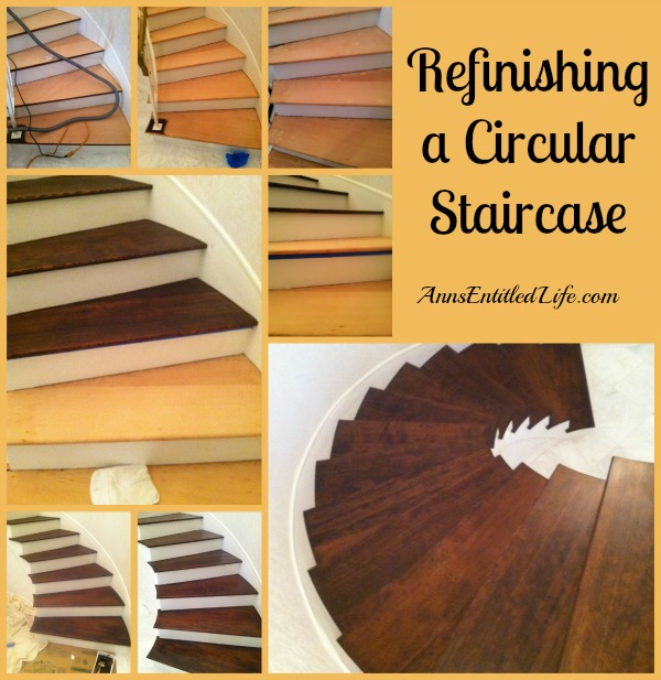 Refinishing a Circular Staircase. Step by step instructions and tutorial photographs to refinish a circular staircase!