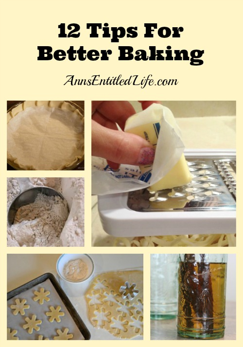 12 Tips For Better Baking. Looking for new tips and tricks to make your baking easier? Better? More efficient? These 12 Tips For Better Baking are just what the pastry chef ordered!
