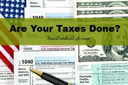 Are Your Taxes Done?