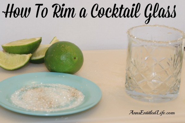 How To Rim a Cocktail Glass