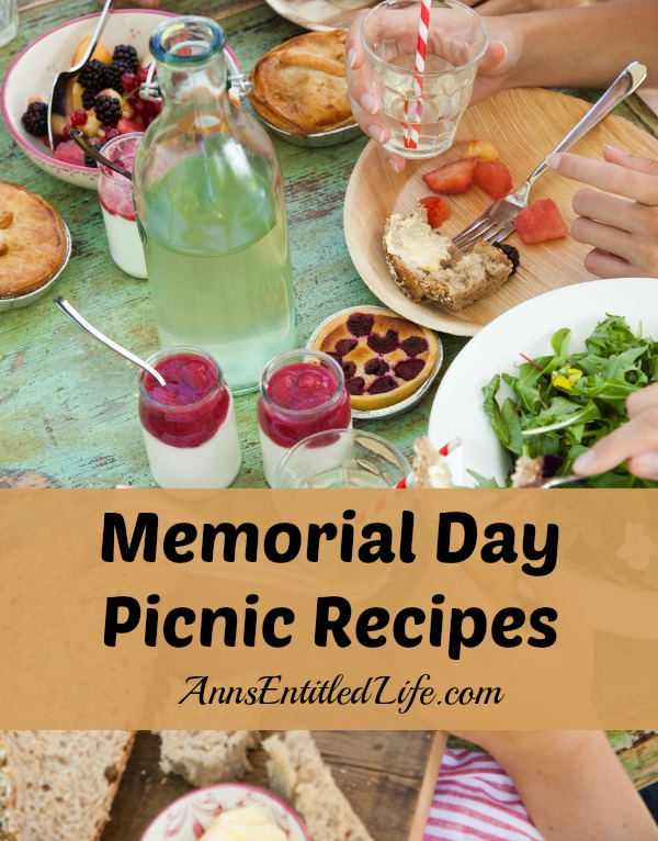 Memorial Day Picnic Menu. Photo: Ryan Benyi; Styling: Stephana Bottom. Pack up these delicious dishes, spread out a blanket and celebrate summer's start. (Serves 8) Appetizers Find recipes with ingredients that you have on hand. + + Eggs. Milk. Flour. Read More. Sign Up for our Newsletter.