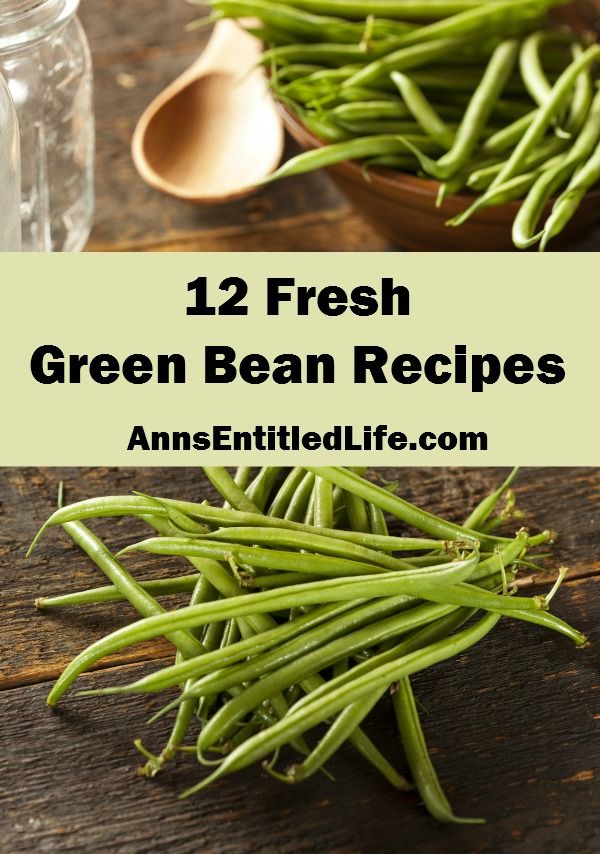 12 Fresh Green Bean Recipes. Bored with steamed vegetables? Take advantage of summer's bounty of fresh green beans and make your family something new for dinner. Liven up your green bean side dish with one of these 12 Fresh Green Bean Recipes.