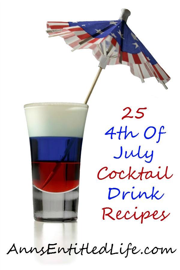 25 4th Of July Cocktail Drink Recipes. Celebrate Independence Day with this collection of 25 4th Of July Cocktail Drink Recipes. Mix up a Margarita, Daiquiri, Painkiller and more. Kick back, relax, and enjoy one of these fun and refreshing libations this holiday weekend!