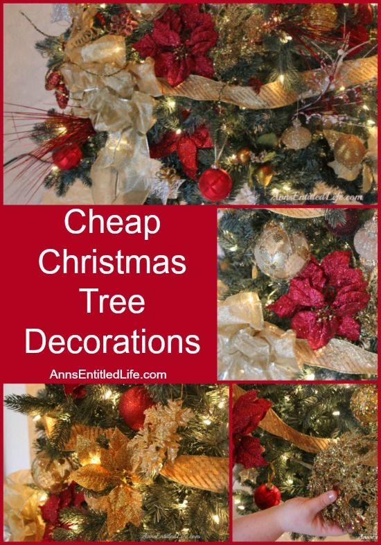 cheap christmas tree decorations collagejpg - Where To Buy Cheap Christmas Decorations