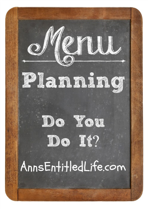 Menu Planning: Do You Do It?