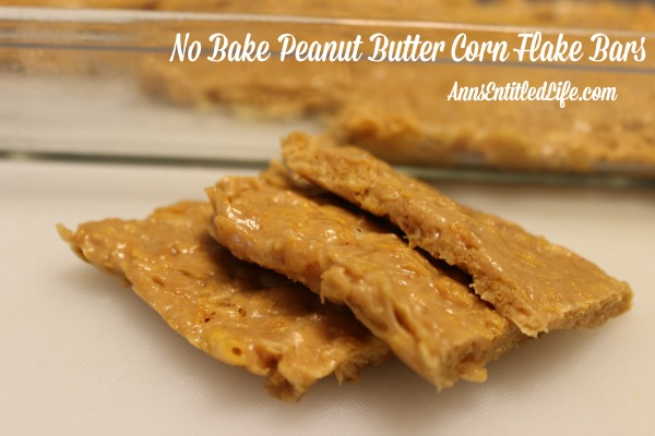 No Bake Peanut Butter Corn Flake Bars. Mix up a batch of these old-fashioned No Bake Peanut Butter Corn Flake Bars on a hot summer day.  Fast and simple to make, your family will love every delicious bite!