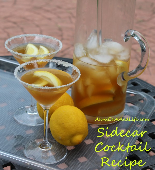 sidecar cocktail recipe by ann the sidecar a classic cocktail of ...