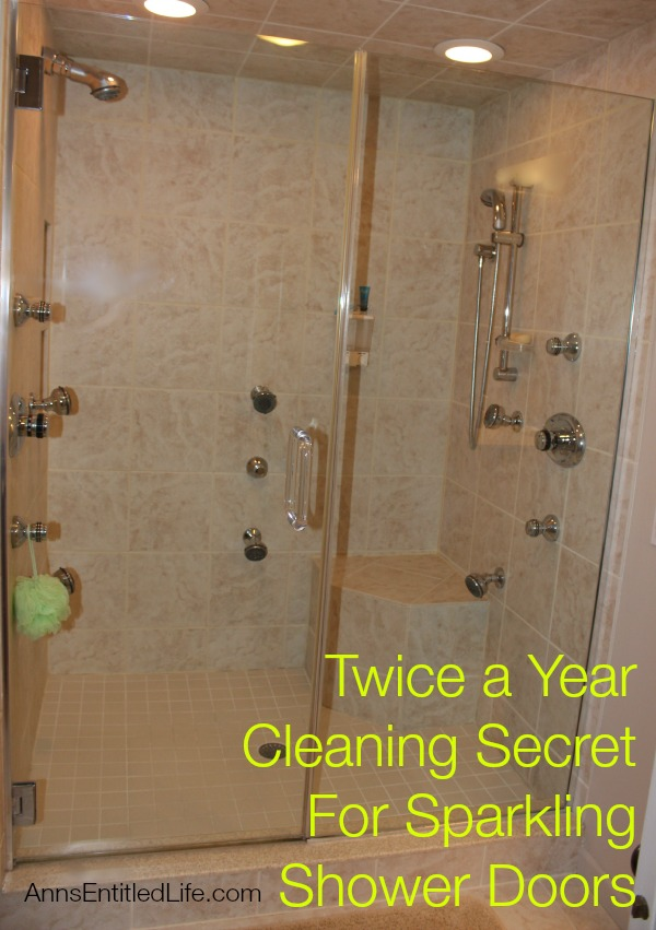 Twice a Year Cleaning Secret For Sparkling Shower Doors