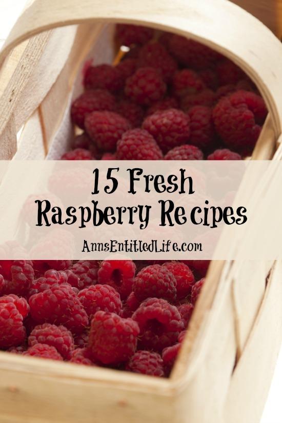 15 Fresh Raspberry Recipes. Enjoy the sweet and tart flavorful taste of freshly picked summer raspberries with these delicious 15 fresh raspberry recipes.