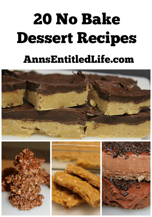 20 No Bake Dessert Recipes. Too hot to turn on the oven yet craving something sweet on a sultry summer day? Well try one of these quick, easy to make, delicious 20 No Bake Dessert Recipes!