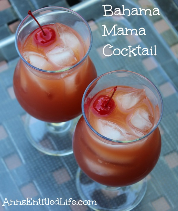 Bahama Mama Cocktail Recipe. Made with three different rums, coffee liquor and fruit juice, this Bahama Mama cocktail is a fun and refreshing drink!