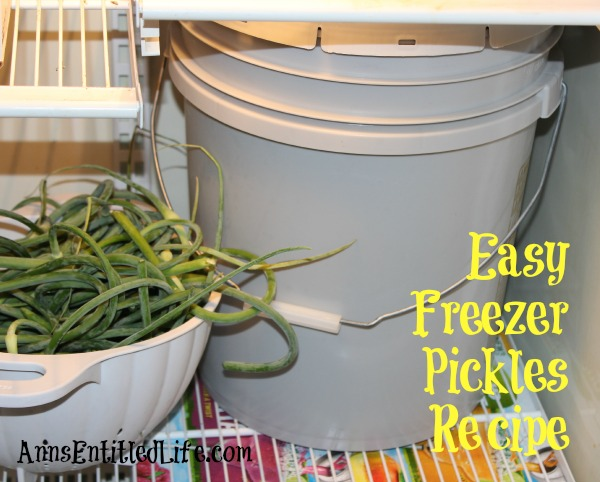 Easy Freezer Pickles Recipe. These easy, sweet and tart pickles are preserved in your freezer. Enjoy garden fresh pickles without the canning or processing with this easy freezer pickles recipe!