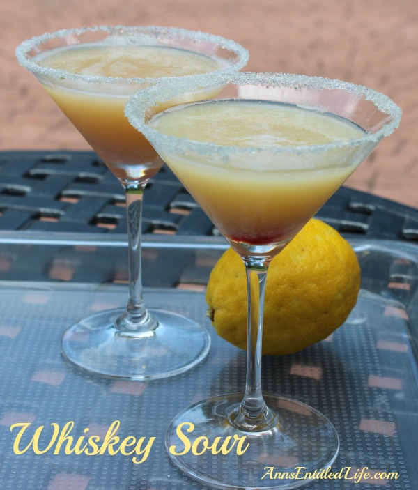 Whiskey Sour Cocktail With Fresh Lemon Recipes — Dishmaps