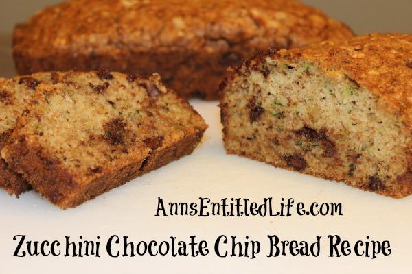 Zucchini Chocolate Chip Bread Recipe. This moist and delicio..
