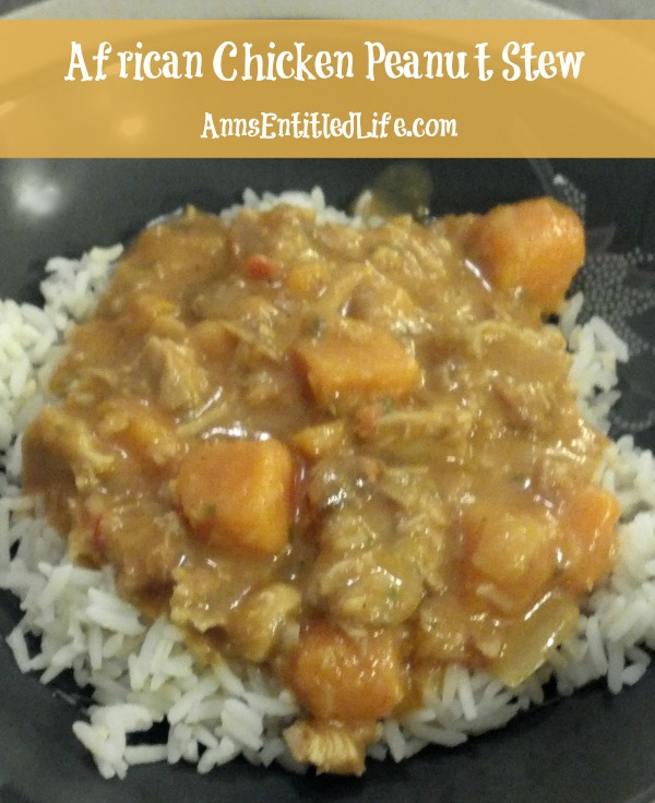 African Chicken Peanut Stew. A low-sodium, low sugar dinner recipe that is complex, flavorful and hearty. A delicious recipe the whole family will enjoy!