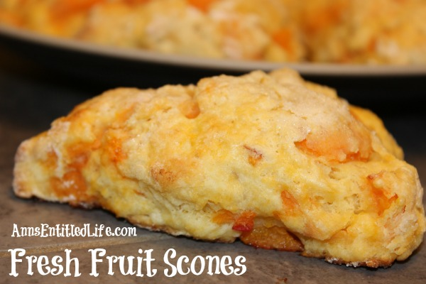 Fresh Fruit Scones Recipe. Nothing beats fresh, in-season fruit! This fresh fruit scones recipe is a great way to use that fresh summer produce. This easy scones recipe produces scones that are delicious, moist and flavorful. Make a batch for now, and freeze a batch of fruit scones for later!