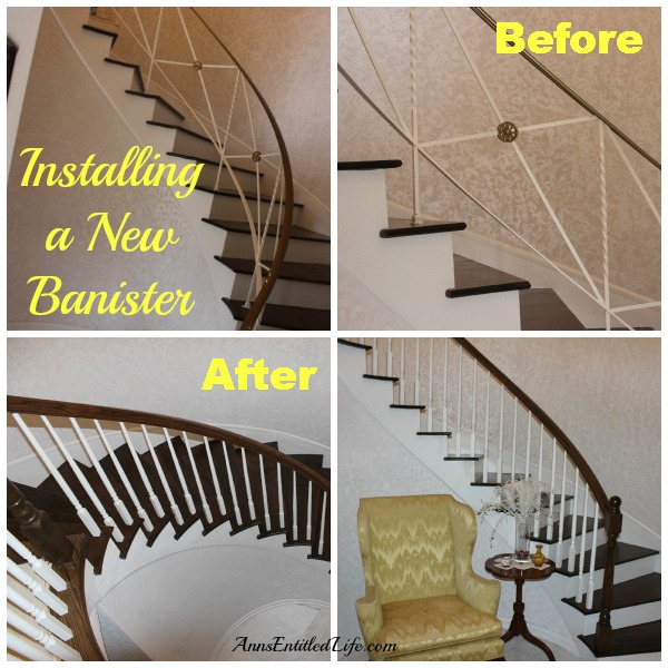 Installing a New Banister.  Updating an existing, ugly,  old fashioned staircase banister into an eye-catching wood statement banister.