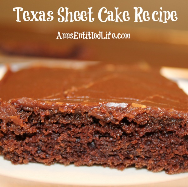 Texas Sheet Cake Recipe With Sour Cream