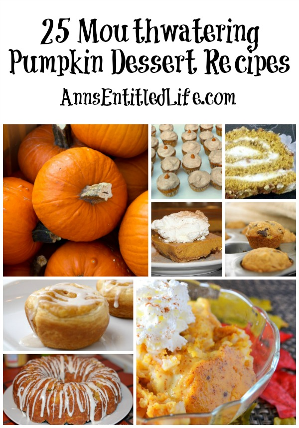 25 Mouthwatering Pumpkin Dessert Recipes. From Cheesecake to Muffins to Truffles and Cakes: here are 25 Mouthwatering Pumpkin Dessert Recipes. These delicious and beautiful pumpkin desserts are the perfect ending to any meal.