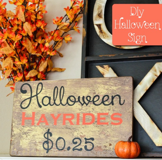 DIY Halloween Sign