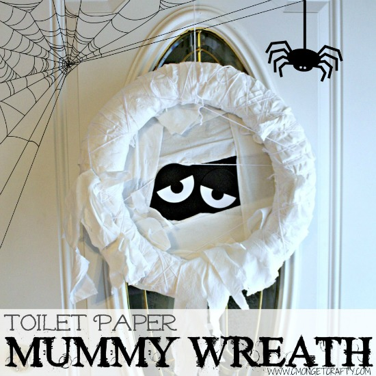 DIY Toilet Paper Mummy Wreath