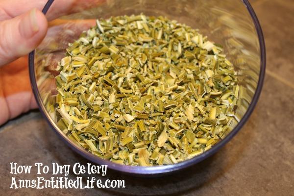How To Dry Celery
