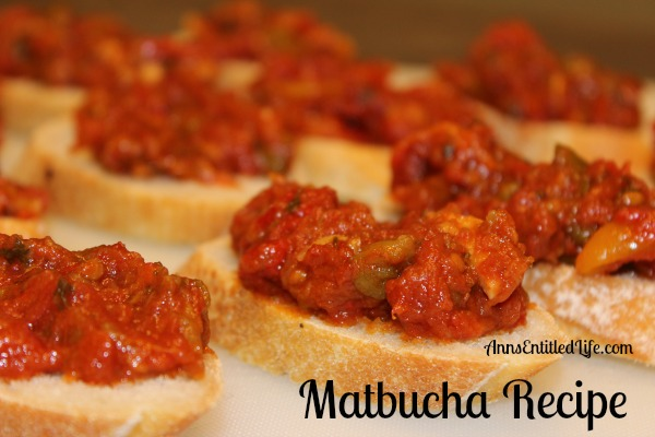 Matbucha Recipe. Matbucha is a beautiful Middle Eastern appetizer made with tomatoes and roasted bell peppers, seasoned with garlic and herbs.