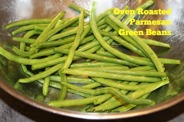 Oven Roasted Parmesan Green Beans Recipe. An easy to make recipe that perks up your fresh, garden green beans. These oven roasted Parmesan green beans are so good, your kids will be asking for seconds!