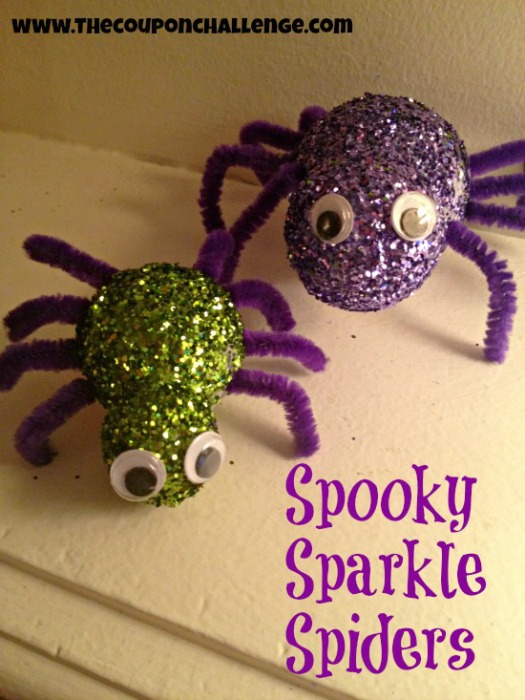 Spooky Sparkle Spiders