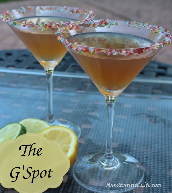 The G'Spot Cocktail Recipe. The G'Spot: a sweet tart cocktail make with Chambord and G'Vine Floraison Gin.