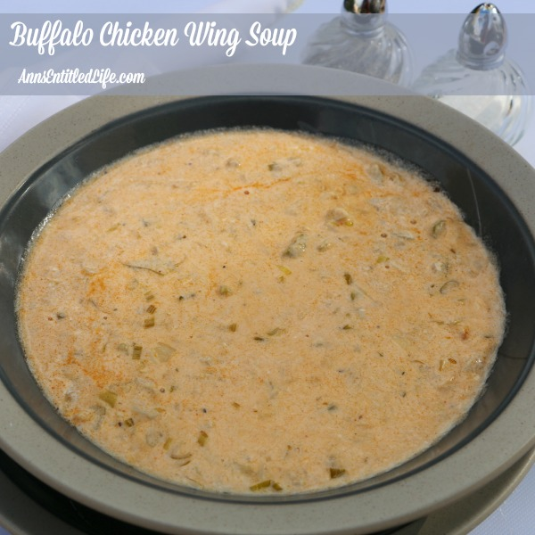 Buffalo Chicken Wing Soup. Spicy, zesty and totally delicious, enjoy the great taste of Buffalo-style wings without the mess with this delicious Buffalo Chicken Wing Soup Recipe.