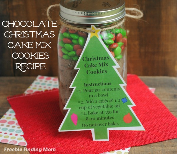Chocolate Christmas Cake Mix Cookies Recipe