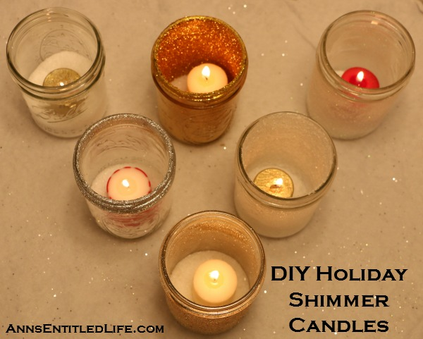 DIY Holiday Shimmer Candles
