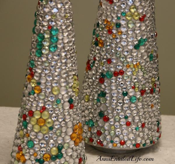 jeweled christmas tree craft - Jeweled Christmas Trees